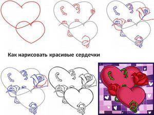 Як намалювати серце