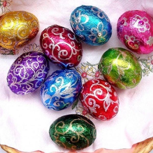 Великоднє яйце своїми руками з фольги: майстер-клас