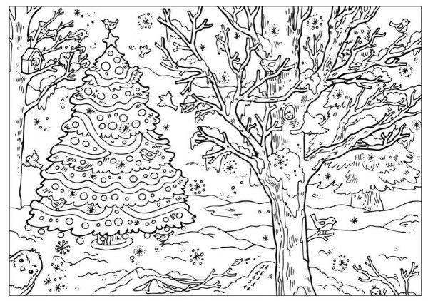 Розмальовки до нового року